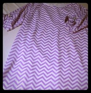 Women's purple chevron tunic style dress sz small